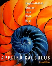 Cover of: Applied calculus |