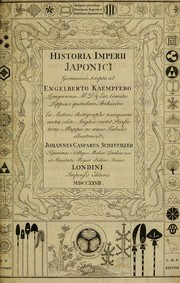 Cover of: The history of Japan, giving an account of the ancient and present state and government of that empire