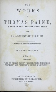 Cover of: The works of Thomas Paine