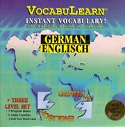 Cover of: German/English (3-Level Set): VocabuLearn