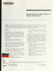 Cover of: Knowledge and employability | Alberta. Alberta Education