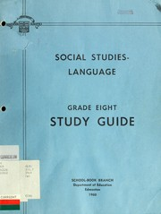 Cover of: Social studies-language | Alberta. Dept. of Education