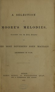 Cover of: A selection of Moore's melodies