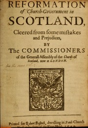 Cover of: Reformation of church-government in Scotland