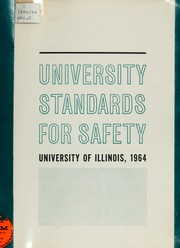 Cover of: University standards for safety
