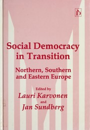 Cover of: Social Democracy in Transition