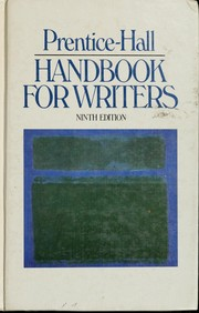 Cover of: Prentice-Hall handbook for writers | Glenn H. Leggett