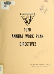 Cover of: Annual work plan directives