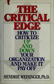Cover of: The critical edge