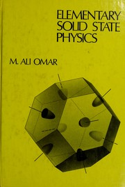 Cover of: Elementary solid state physics by M. Ali Omar
