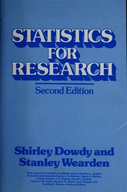 Cover of: Statistics for research | Shirley Dowdy