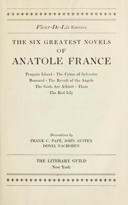 Cover of: The six greatest novels of Anatole France ...