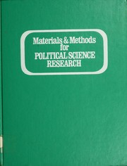Cover of: Materials & methods for political science research | Carla J. Stoffle