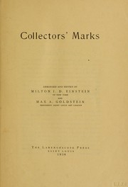 Cover of: Collectors' marks