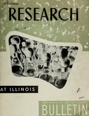 Cover of: Research at Illinois