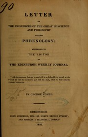 Cover of: Letter on the prejudices of the great in science and philosophy against phrenology
