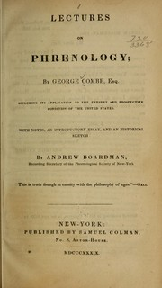 Cover of: Lectures on phrenology