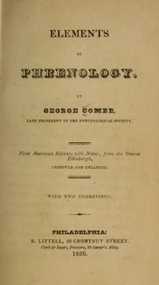 Cover of: Elements of phrenology