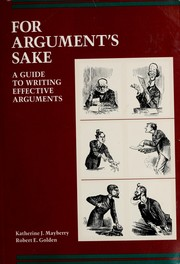 Cover of: For argument's sake | Katherine J. Mayberry