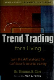 Cover of: Trend trading for a living