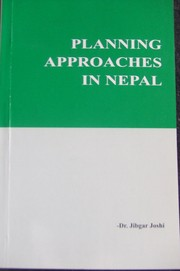 Cover of: Planning approaches in Nepal