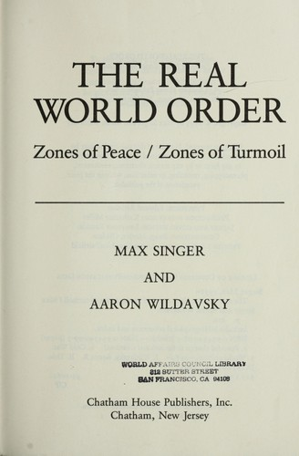 The real world order by Max Singer