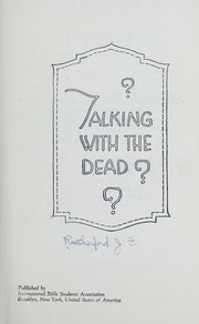 Cover of: Talking with the dead?