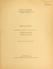 Cover of: Statistical supplement to Agricultural Experiment Station circular 378