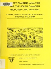 Cover of: Draft planning analysis for the south Canadian proposed land disposal | United States. Bureau of Land Management. Oklahoma Resource Area Headquarters