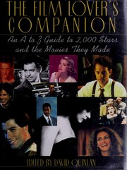 Cover of: The film lover's companion | edited by David Quinlan.