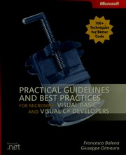Cover of: Practical guidelines and best practices for Microsoft Visual Basic and Visual C# developers