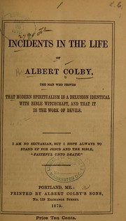 Cover of: Incidents in the life of Albert Colby | Albert Colby