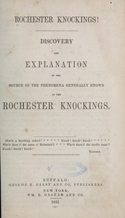 Cover of: Rochester knockings! |