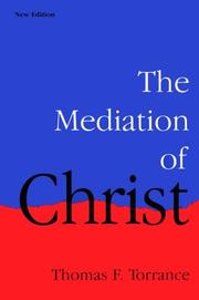 Cover of: The mediation of Christ
