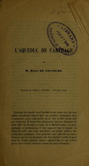 Cover of: L'Aqueduc de Carthage