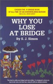 Cover of: Why You Lose at Bridge