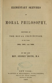 Cover of: Elementary sketches of moral philosophy