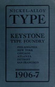 Cover of: Abridged specimen book. Type, nickel-alloy on universal line | Keystone Type Foundry