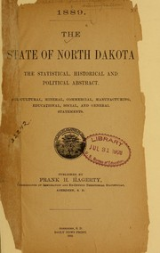 Cover of: 1889 | South Dakota. Commissioner of immigration