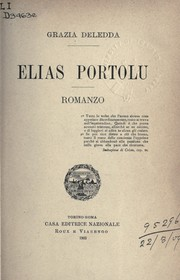 Cover of: Elias Portolu