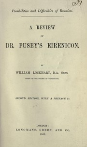 Cover of: A review of Dr. Pusey's Eirenicon