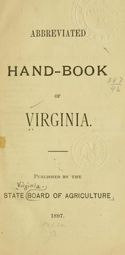 Cover of: Abbreviated hand-book of Virginia. | Virginia. Board of agriculture