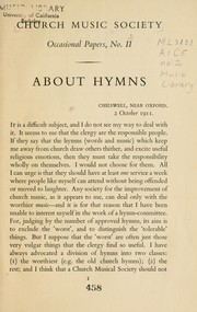 Cover of: About hymns