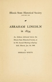 Cover of: Abraham Lincoln in 1854