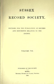 Cover of: An abstract of Feet of fines, relating to the county of Sussex | Great Britain Court of Common Pleas