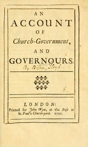 Cover of: An Account of church government and governours | William Lloyd