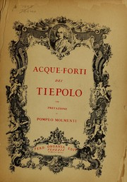 Cover of: Acque-forti dei Tiepolo