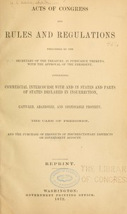 Cover of: Acts of Congress and rules and regulations prescribed by the secretary of the treasury | United States. Dept. of the Treasury.