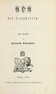 Cover of: Ada, die Lesghierin