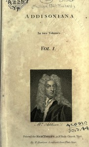 Cover of: Addisoniana | Phillips, Richard Sir